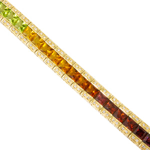BELLARRI Eternal Love - Bracelet (Yellow Gold / Multi Color Gemstone) close-up