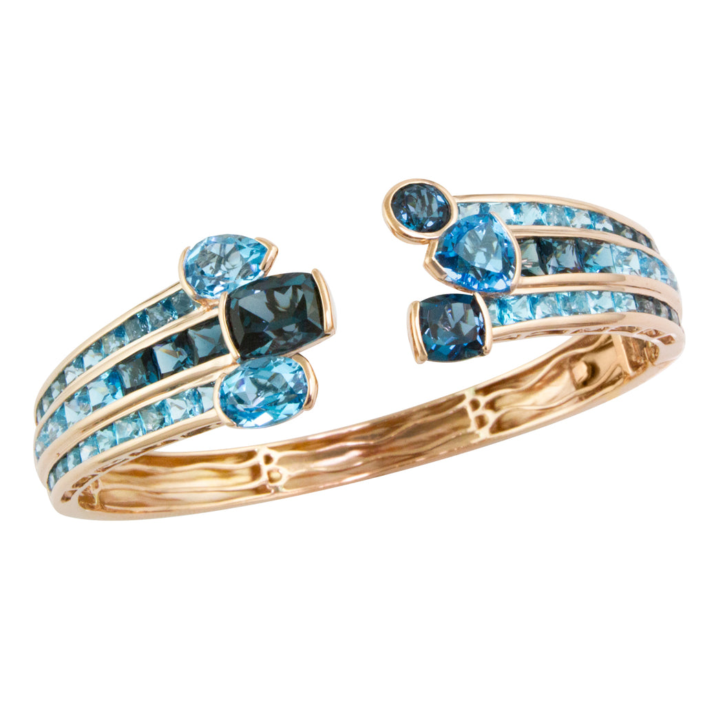 BELLARRI Capri Nouveau Blue Topaz Bangle