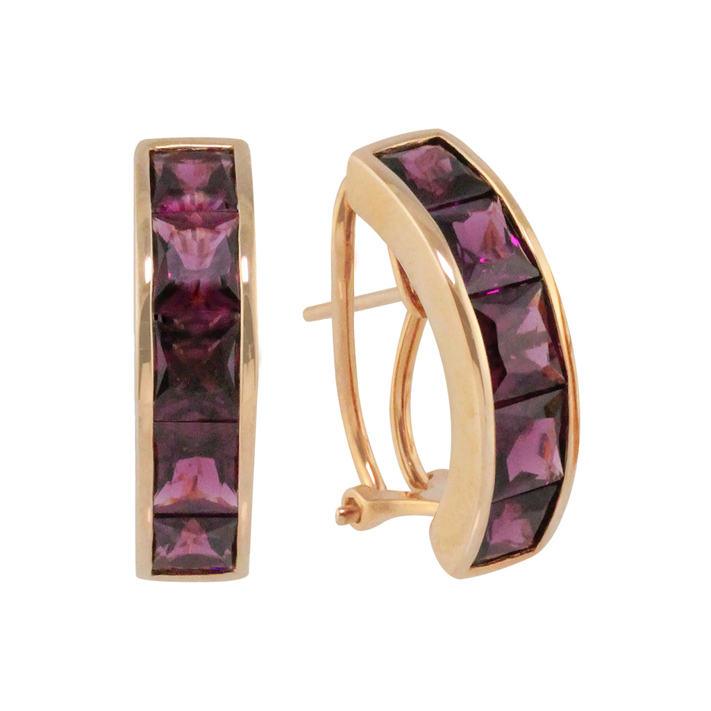BELLARRI Eternal Love - Rose Gold / Rhodolite - Earrings