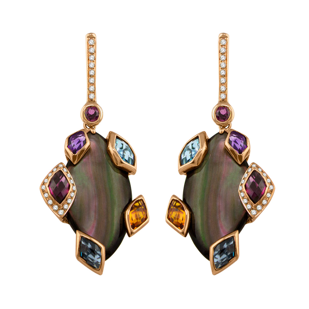BELLARRI Aladdin Nouveau II - Black Mother of Pearl Earrings