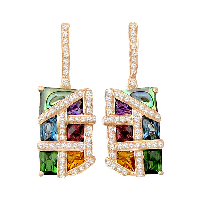 Mosaic Nouveau - Earrings