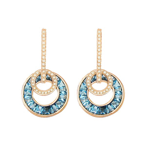 BELLARRI Poetry in Motion - Earrings (Rose Gold & Blue Topaz)