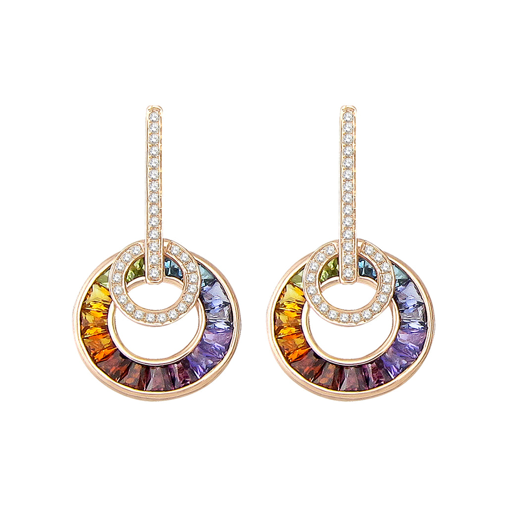 BELLARRI Poetry in Motion - Earrings (Rose Gold & Multi)