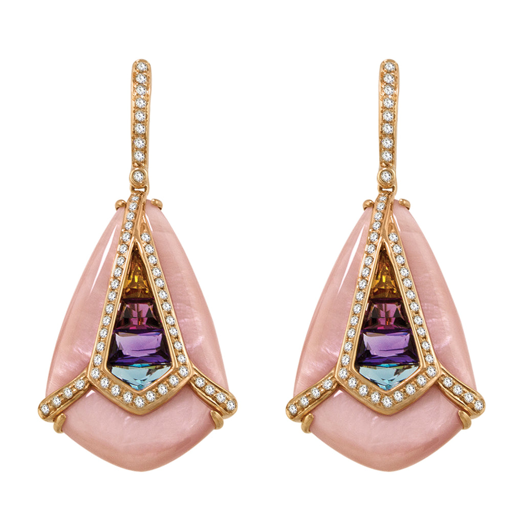 BELLARRI Aladdin Nouveau I - Pink Mother of Pearl Earrings