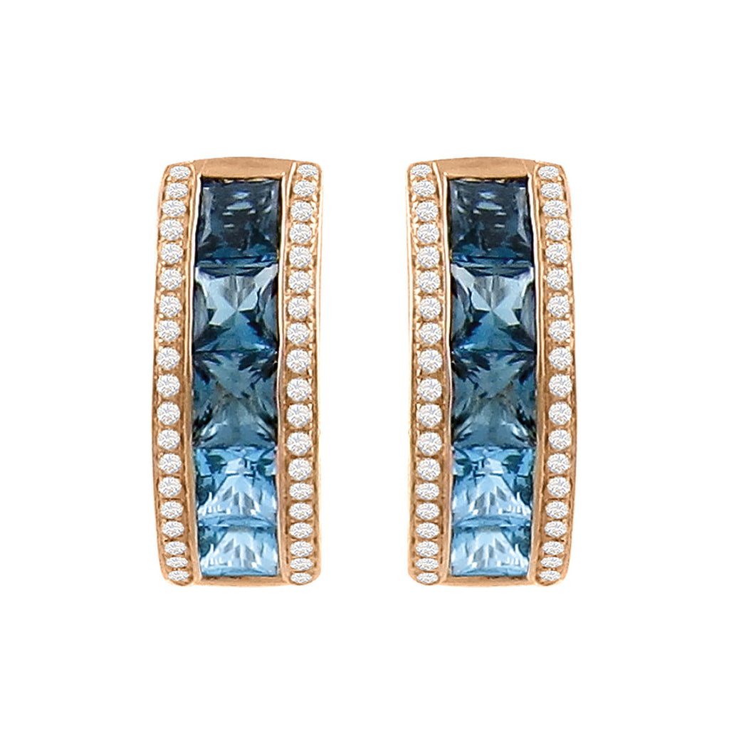 BELLARRI Eternal Love - Earrings (Rose Gold / Blue Topaz)