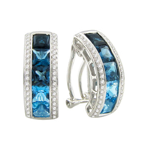 BELLARRI Eternal Love - Earrings (White Gold / Blue Topaz / Diamonds)