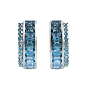 BELLARRI Eternal Love - Earrings (White Gold / Blue Topaz)