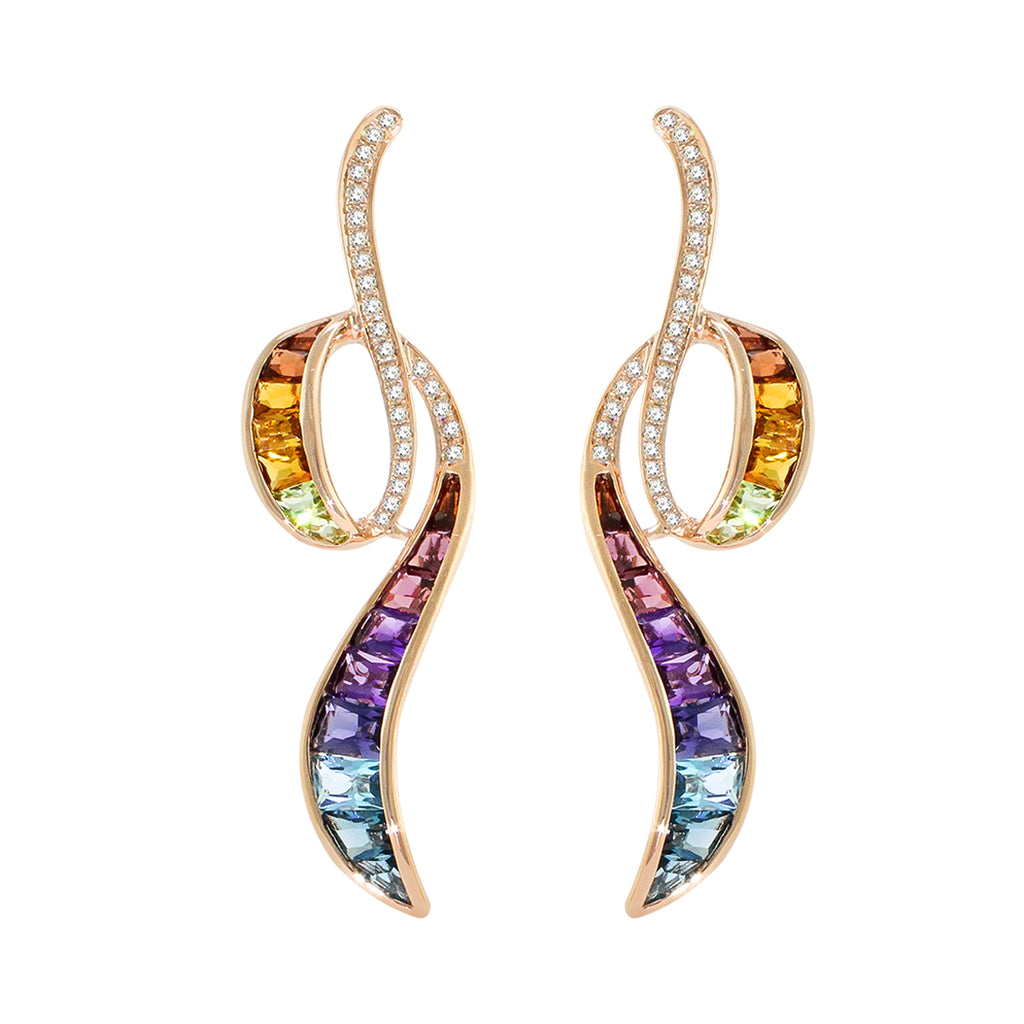 BELLARRI Capri Multi Color Earrings