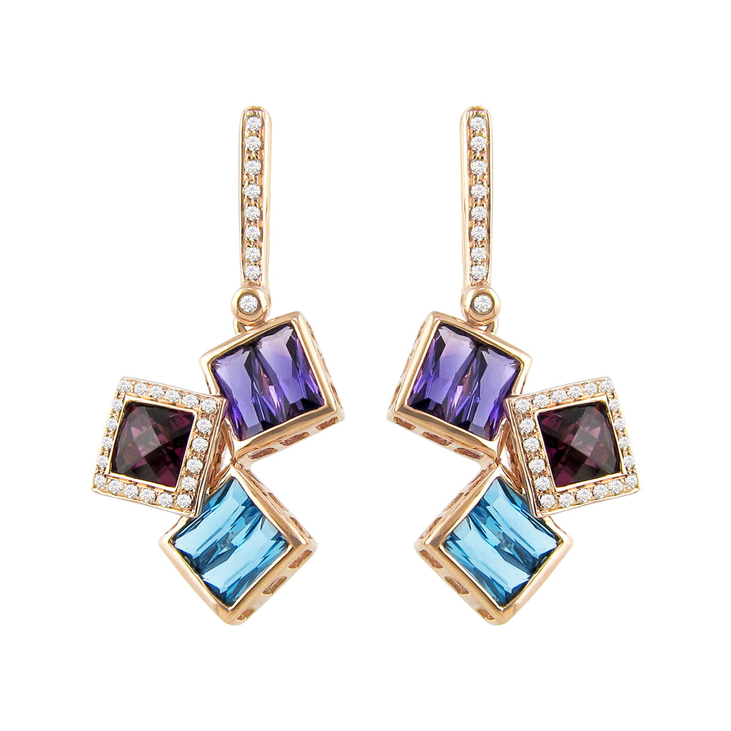 BELLARRI Rhapsody - Earrings (Approximately 30mm height (with Diamond top) x 14mm at widest point.)