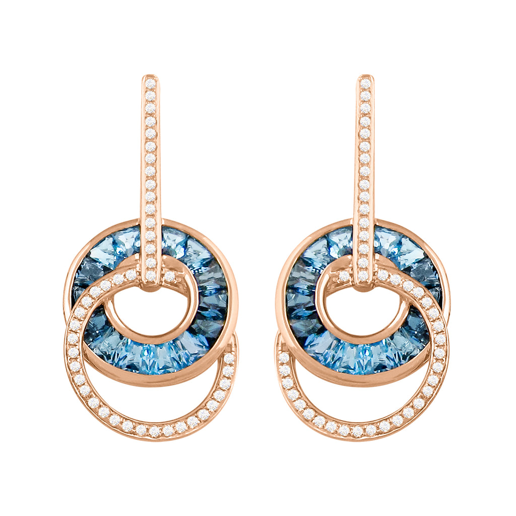 BELLARRI Malibu - Blue Topaz Earrings