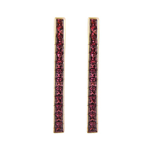 BELLARRI Eternal Love Stiletto - Earrings (Rose Gold / Rhodolite)