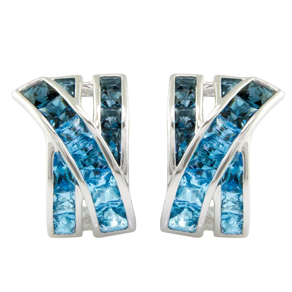 BELLARRI Eternal Love - Earrings (White Gold / Swiss Blue Topaz / London Blue Topaz)