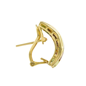 BELLARRI Eternal Love - Earrings side view (Yellow Gold / genuine Multi Color Gemstone)