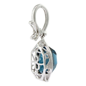 BELLARRI Tuscany - Enhancer (White Gold and London Blue Topaz) side view