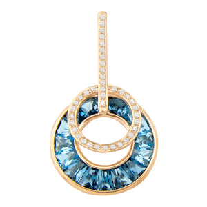 BELLARRI Poetry in Motion - Enhancer (Rose Gold & Blue Topaz)