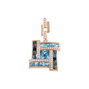BELLARRI Galaxy of Love - Enhancer (Rose Gold / Diamonds / Blue Topaz)