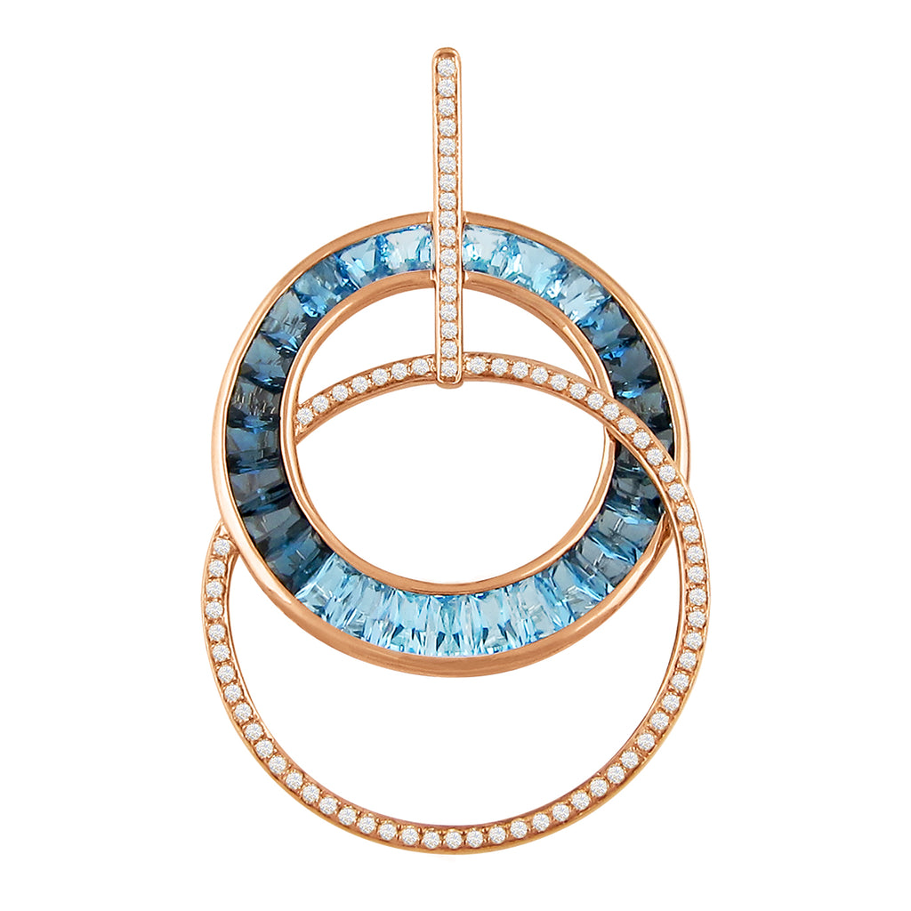 BELLARRI Malibu - Blue Topaz Enhancer (Rose Gold)