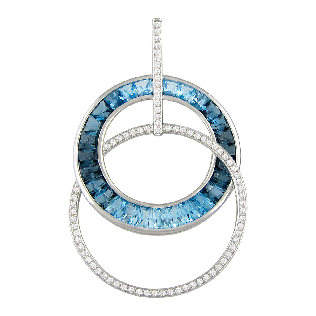 BELLARRI Malibu - Blue Topaz Enhancer (White Gold)