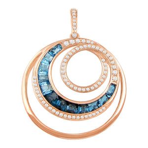 BELLARRI Malibu - Blue Topaz Enhancer (Rose Gold 38mm x 28mm)