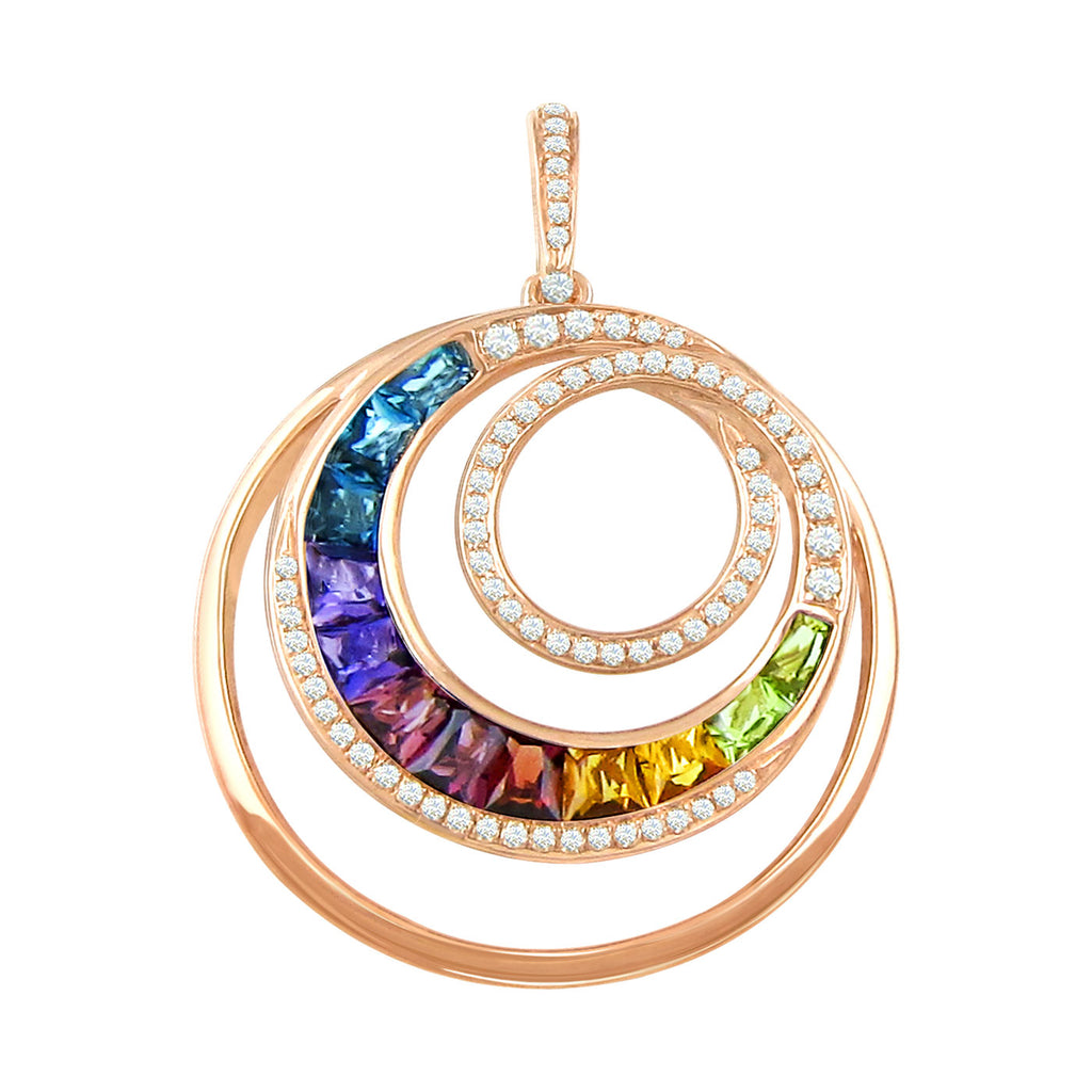 BELLARRI Malibu - Enhancer (Multi Color Gemstones 38mm x 28mm)