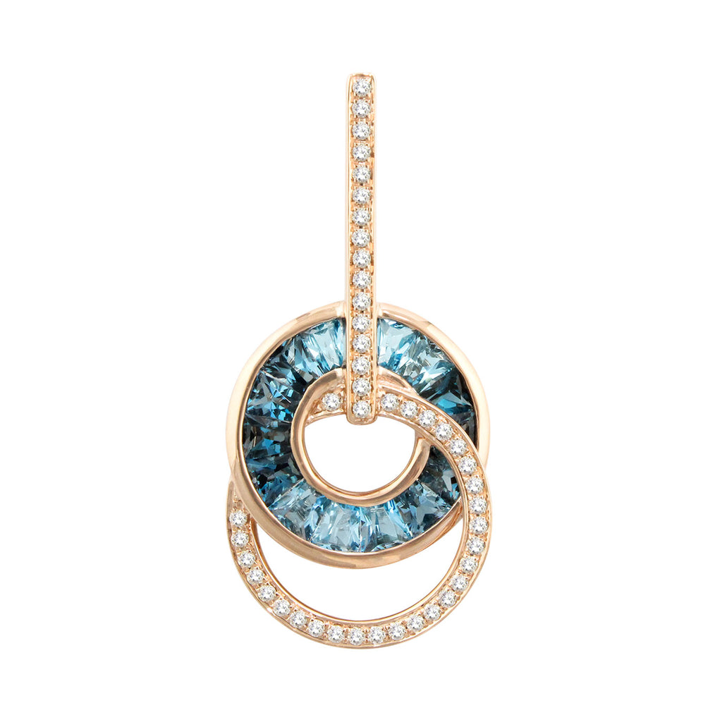 BELLARRI Malibu - Blue Topaz Enhancer (Rose Gold 29mm x 16mm)