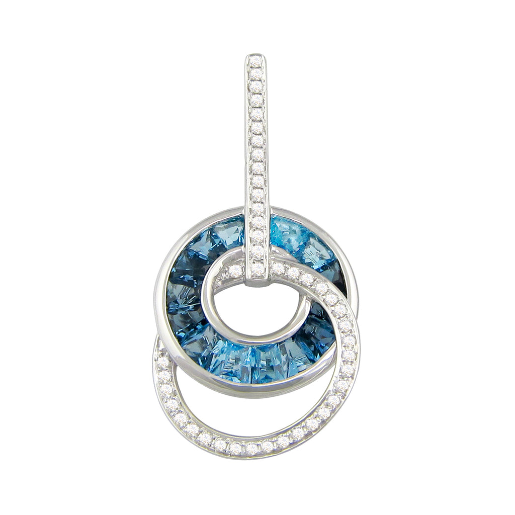 BELLARRI Malibu - Blue Topaz Enhancer (White Gold 29mm x 16mm)