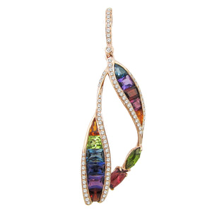 BELLARRI Multi Color Enhancer (14kt Rose Gold, Diamonds, Multi Color Gemstones)
