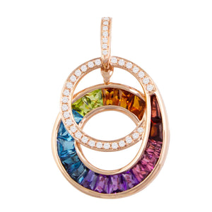 BELLARRI The Cove - Enhancer (14kt Rose Gold, Diamonds, Multi Color Gemstones)
