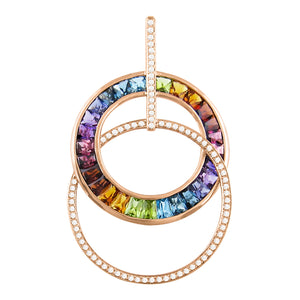 BELLARRI Malibu - Enhancer (Multi Color Gemstones 50mm x 31mm)