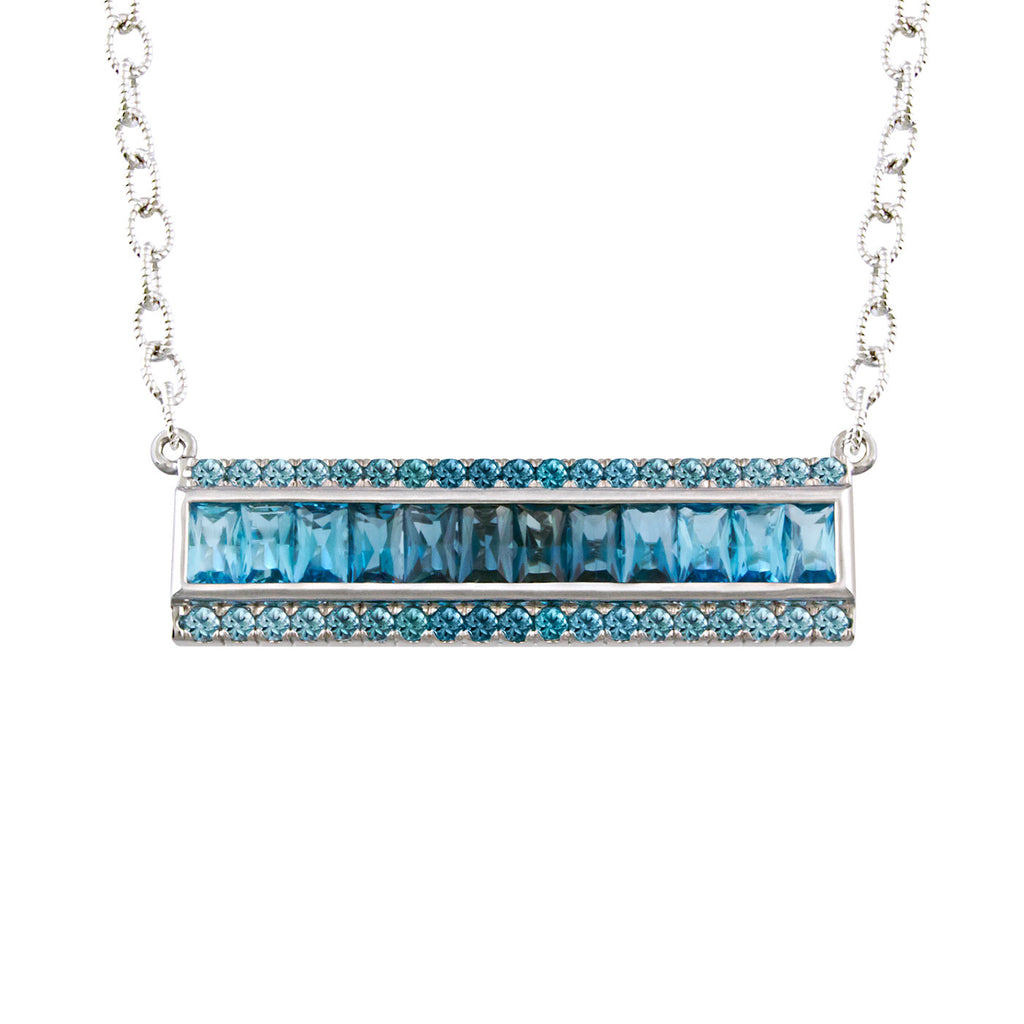 BELLARRI Eternal Love - Necklace (White Gold / Blue Topaz)