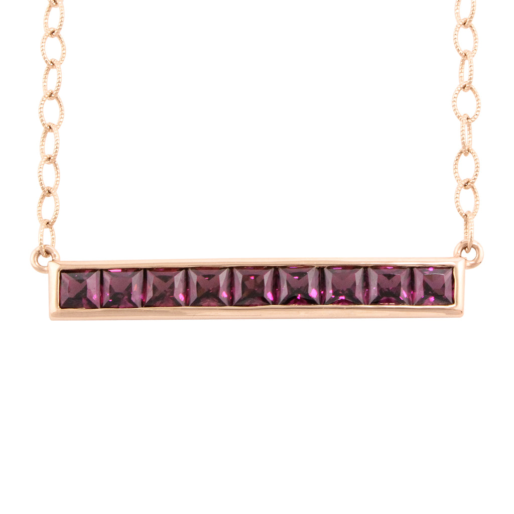 BELLARRI Eternal Love - Rose Gold / Rhodolite - Necklace