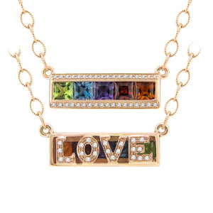 BELLARRI Eternal Love - LOVE Necklace (Rose Gold / Reversible)