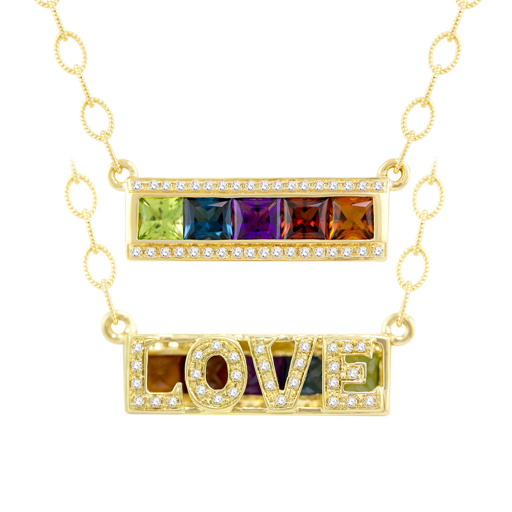 BELLARRI Eternal Love - LOVE Necklace (Yellow Gold / Reversible)