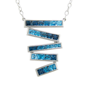 BELLARRI Eternal Love Stiletto - Necklace  (White Gold / Blue Topaz)