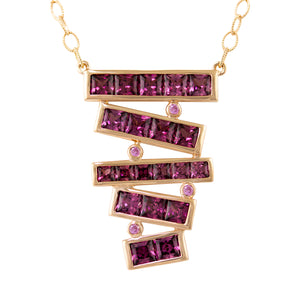 BELLARRI Eternal Love Stiletto - Necklace (Rose Gold / Rhodolite)