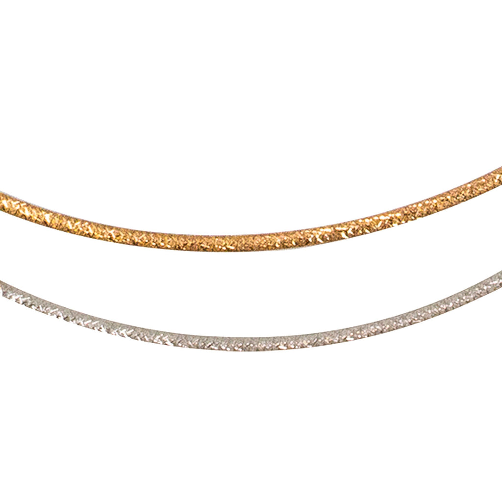 14 kt Reversible Omega Chain - Rose Gold / White Gold - from BELLARRI