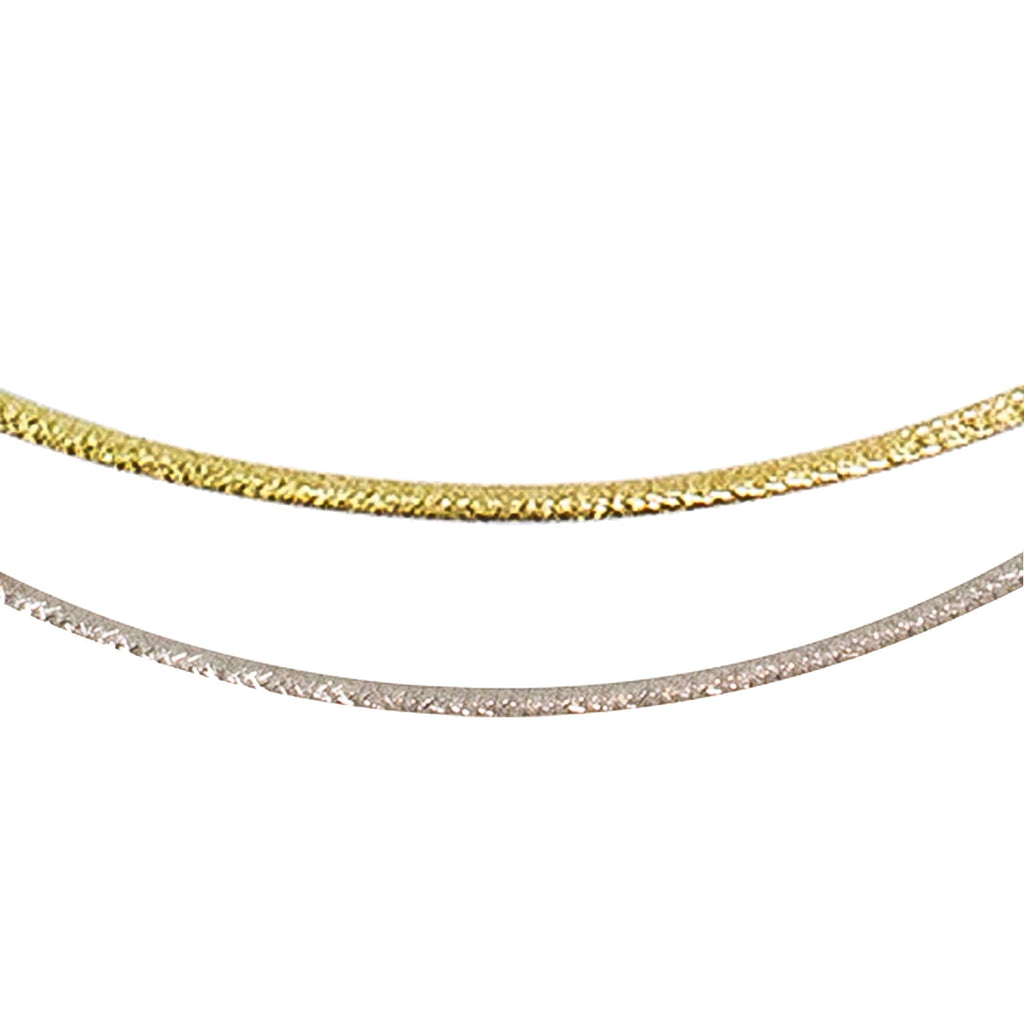 14kt Reversible Omega Chain - One side all Yellow Gold. One side all White Gold. - from BELLARRI