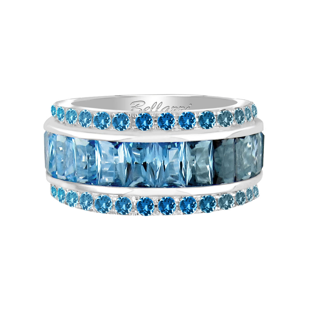 BELLARRI Eternal Love - Ring (White Gold / Blue Topaz)