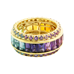 BELLARRI Eternal Love - Ring (Yellow Gold / Multi Color Gemstone) size 7.5