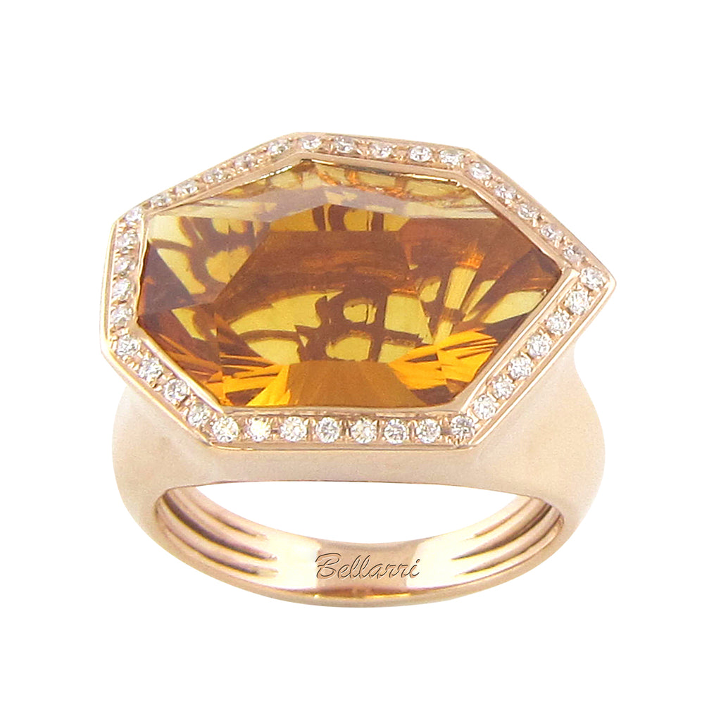 BELLARRI Tuscany - Ring  (14kt Rose Gold and Citrine)