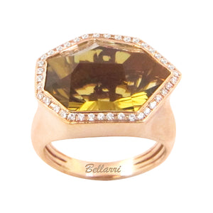 BELLARRI Tuscany - Ring  (18kt Rose Gold, Diamonds, Champagne Quartz)