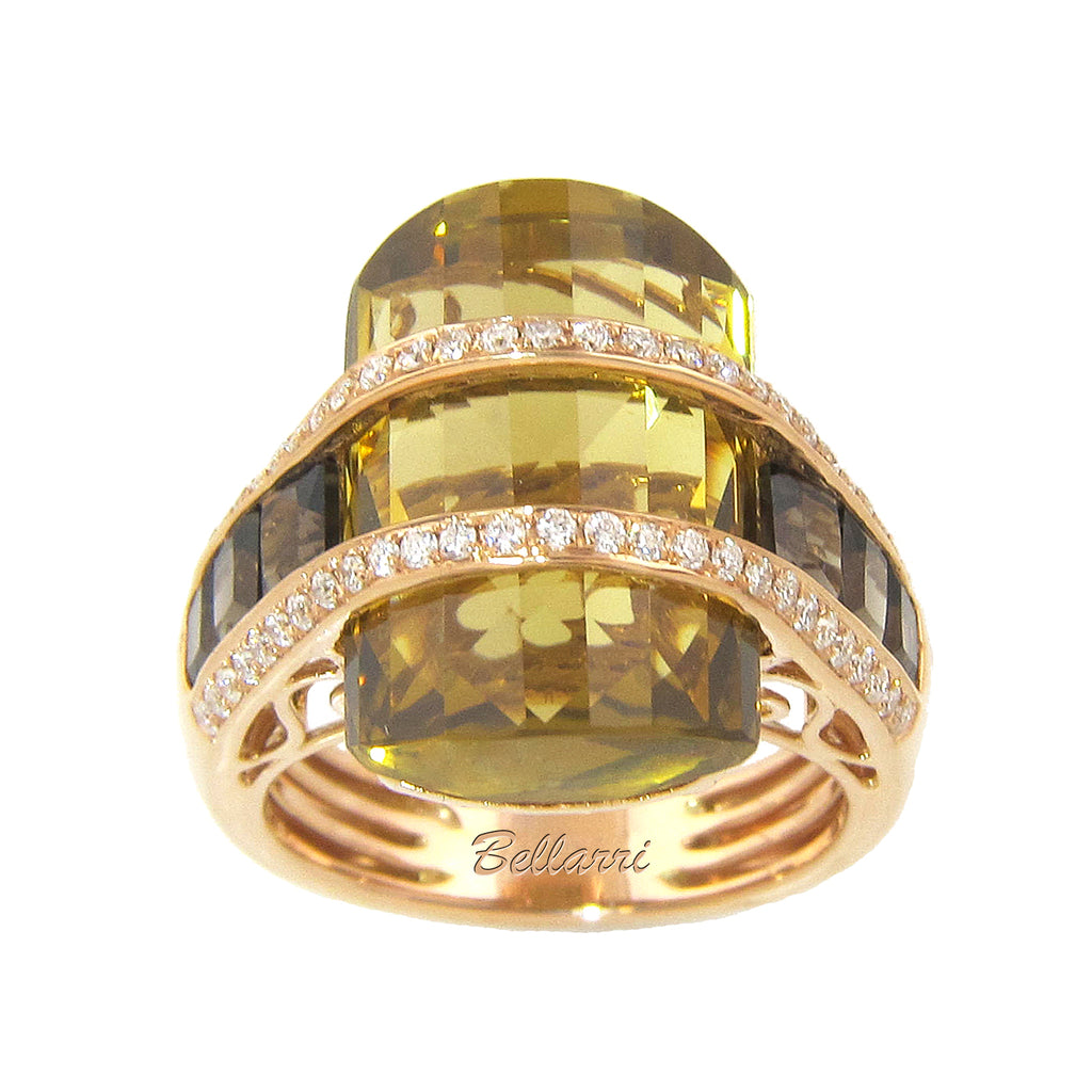 BELLARRI Tango Ring - Limited Edition (Rose Gold / Champagne Quartz / Smokey Quartz)