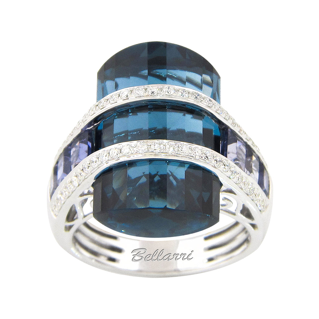 BELLARRI Tango - Ring (White Gold, Blue Topaz)
