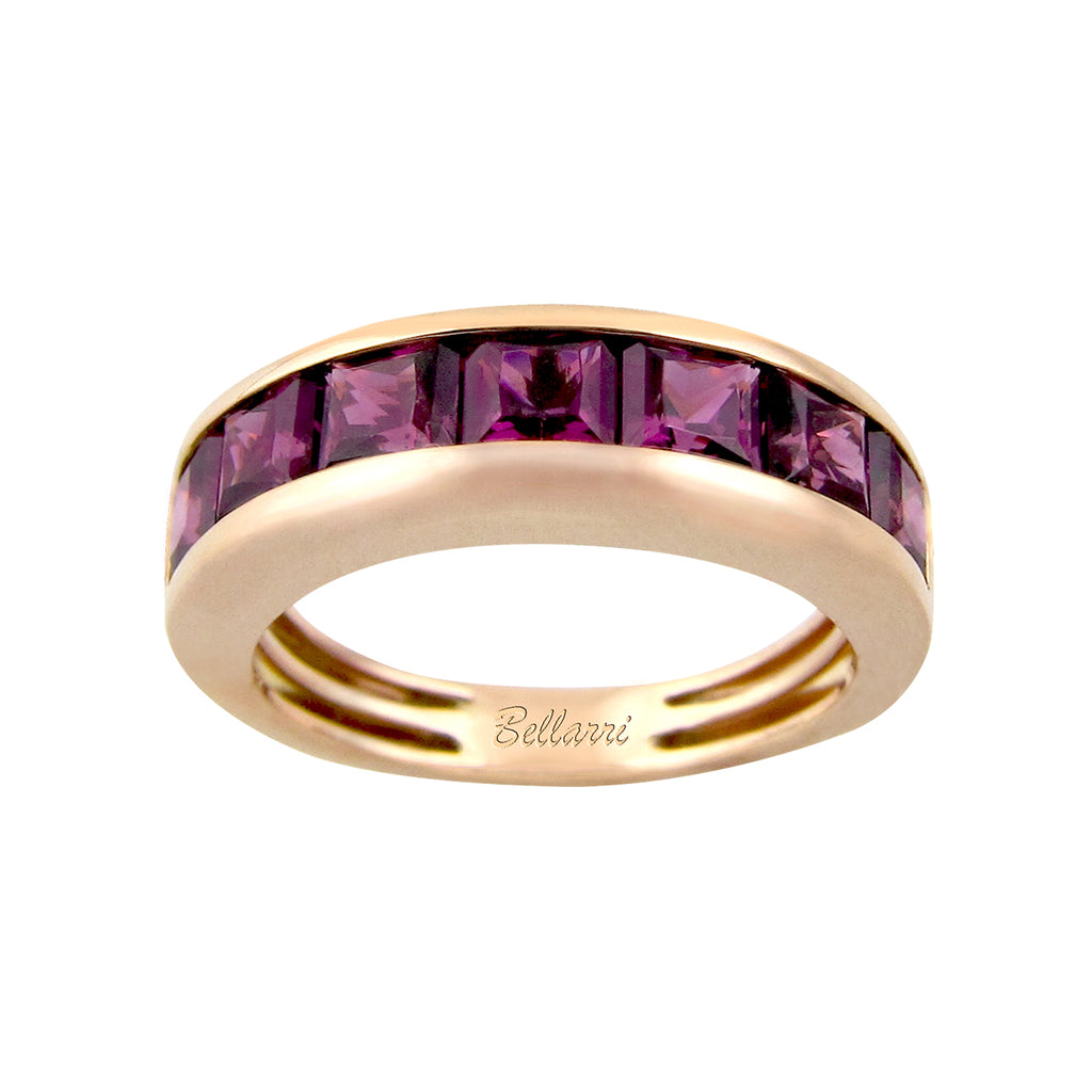 BELLARRI Eternal Love - Ring (Rose Gold / Rhodolite). Approximately 4mm wide.