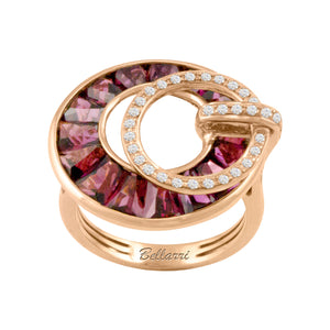 BELLARRI Poetry in Motion Ring (Rose Gold & Rhodolite)