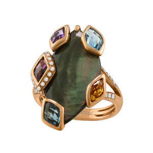BELLARRI Aladdin Nouveau II - Black Mother of Pearl Ring