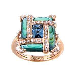 BELLARRI Anastasia - Ring, top of ring is approximately 16mm x 14mm