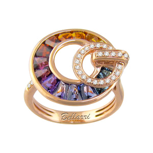 BELLARRI Poetry in Motion Ring (Rose Gold & Multi) smaller version