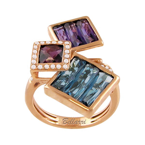 BELLARRI Rhapsody - Ring (Rose Gold / Diamonds / Multi Color Gemstones)