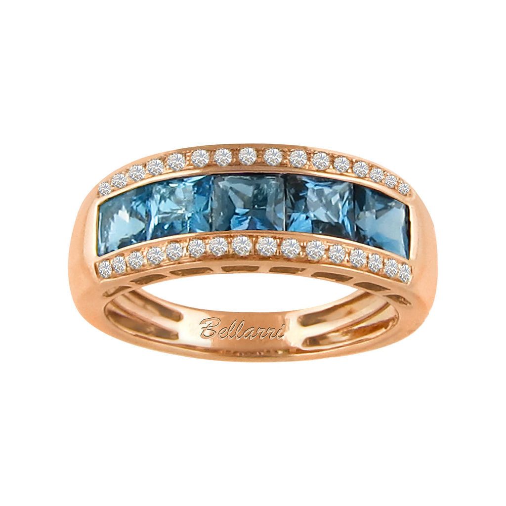BELLARRI Eternal Love - Ring (Rose Gold / Blue Topaz)